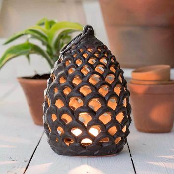 Large Pinecone Tea Light Lantern