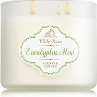 Bath & Body Works White Barn Eucalyptus Mint Scented 3 Wick Candle 14.5 oz./4...