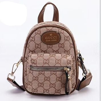 LV Louis vuitton New Canvas Embroidered Letters Shopping Backpack School Bag Daypack