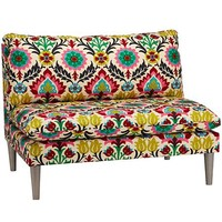 As You Wish Upholstered Settee in Rocking Chairs & Gliders | The Land of Nod