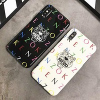 Kenzo New fashion letter tiger couple protective cover phone case