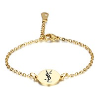 YSL  New fashion letter print print chain bracelet women
