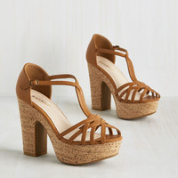 With All My Height Heel in Cappuccino | Mod Retro Vintage Heels | ModCloth.com
