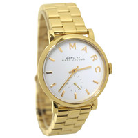 Marc by Marc Jacobs MBM3243 Women's Baker White Dial Yellow Gold Plated Steel Bracelet Watch