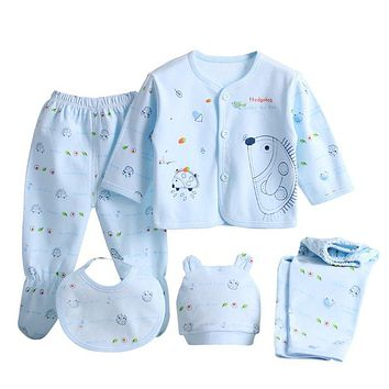 5 Pcs/Set Newborn Baby Clothing Sets Baby Boy Girl Clothes 100% Cotton Cartoon Underwear Sets