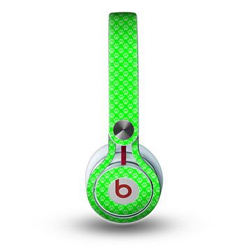The Subtle Green Paw Prints Skin for the Beats by Dre Mixr Headphones