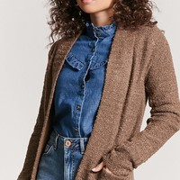 Open-Front Boucle Cardigan