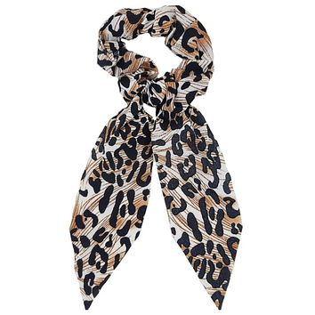 Adorable Leopard Scrunchies with Tail