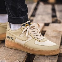 Nike Air Force 1 AF1 GTX New Men Women Casual Sport Running Shoes Sneakers Apricot