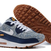 """""""Nike Air Max 90"""" Unisex Sport Casual Multicolor Flower Air Cushion Sneakers Couple Running Shoes"""