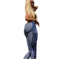 Stretch Skinny Printed Pants/Slim workout Leggings