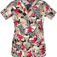 """Buy Dickies Women's Wild And Free """"Youtility"""" Junior Fit V-Neck Scrub Top for $21.45"""
