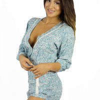 Sea Dreamer Under The Sea Flower Print Romper
