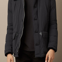 Down-Filled Jacket with Shearling Topcollar