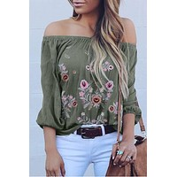 Stella Embroidered Off-The-Shoulder Blouse