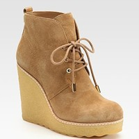 Tory Burch - Denise Suede Wedge Ankle Boots - Saks.com