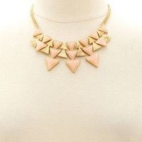 TRIANGLE STONE SHORT NECKLACE