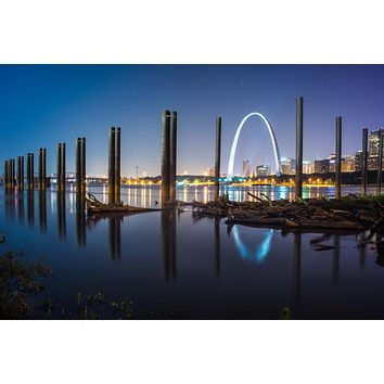 St Louis Arch Gateway West Missouri Downtown Skyline Canvas Photography Metal Print Wall Art Picture Home Decor Poster Landmark Bedroom