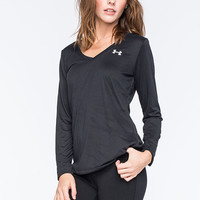 Under Armour Womens Long Sleeve Tech Tee Black  In Sizes