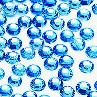 3mm 1000 pieces Round Flat Back 14 facet cut Rhinestones  ---- Sky Blue