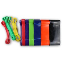208cm Latex Pull Up band Crossfit Resistance Bands Fitness Body Gym Power Training Powerlifting Band Unisex Sports Nature Rubber