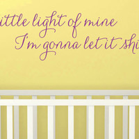 """Wall Vinyl Quote - """"Let It Shine""""  -  (48"""" x 11"""")"""