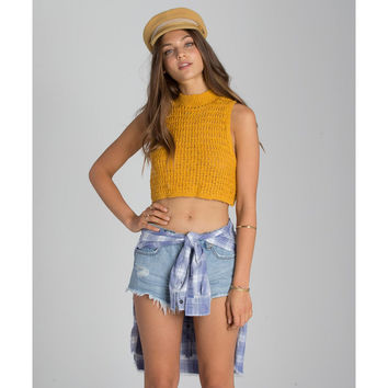 SHAKE IT DOWN KNIT CROP TOP