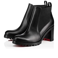 Christian Louboutin Cl Marchacroche Black Leather 18s Ankle Boots 1180478bk01 -