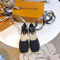 Louis Vuitton Fashion Strappy Espadrille