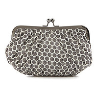 Kate Landry Pleated Dot Frame Clutch - Champagne
