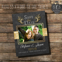 Chalboard Photo Save the Date magnets,Rustic Save the Date personalized,Rustic Save the Dates magnets,Photo Save The date Magnets,
