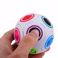 1 Spherical Magic Cube Toy Novelty Toys Football Puzzle Rainbow Learning and Educational Toys for Children Adults