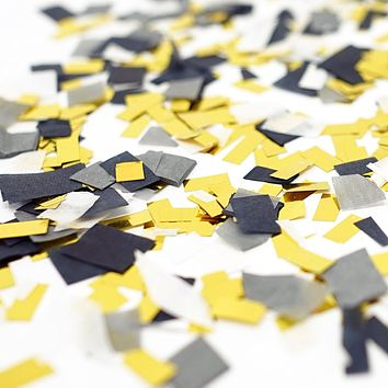 Black Gray White Gold Foil Shredded Confetti Paper Party Decoration