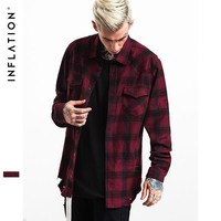 ca spbest Flannel Ripped Shirts Mens Hip Hop