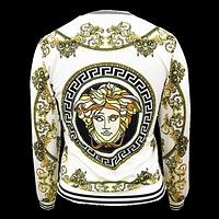 Versace Tide brand women's badge printed wild thin jacket