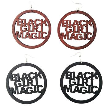Black Girl Magic Earrings | natural hair earrings | Afrocentric earrings