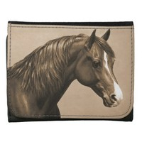 Chestnut Morgan Horse in Sepia Wallet