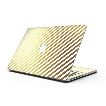 The Golden Diagonal Stripes - MacBook Pro with Retina Display Full-Coverage Skin Kit