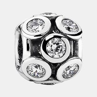 Women's PANDORA 'Whimsical Lights' Charm - Silver/ Clear