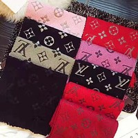 Onewel LV Louis Vuitton Popular Multicolor Easy To Match Cashmere Scarf Shawl Scarves Accessories