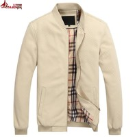 UNCO&BOROR new 2017 spring fall fashion men`s thin Plaid casual Bomber jacket Trend College Slim Fit men puffer jacket And Coats