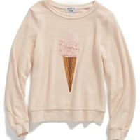 Girl's Wildfox 'Breakfast - Baggy Beach Jumper' Sweatshirt,