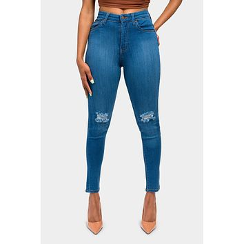 Essential High Waist Distressed Jeans