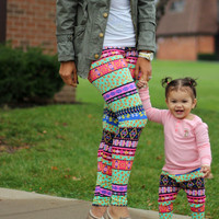 Mommy and Baby Matching Rainbow Leggings