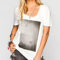 Rvca Flight Womens Tee White  In Sizes