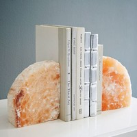 Selenite Bookend - Coral