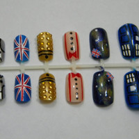 Doctor Who Press On Nails (Eleventh Doctor)