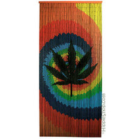 Tie Dye Pot Leaf Door Beads on Sale for $29.95 at The Hippie Shop