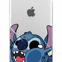 Lilo and Stitch Clear Phone Case For iPhone 7 7+ 6 6s Plus 5 5s SE + Samsung ALL