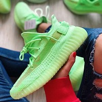 Adidas Yeezy Boost 350 V2 Classic Popular Men Women Running Sport Shoes Sneakers Green(Luminous Soles)